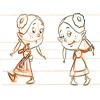 σχεδιασμός χαρακτήρων για διαφημιστικό κινουμένων σχεδίων